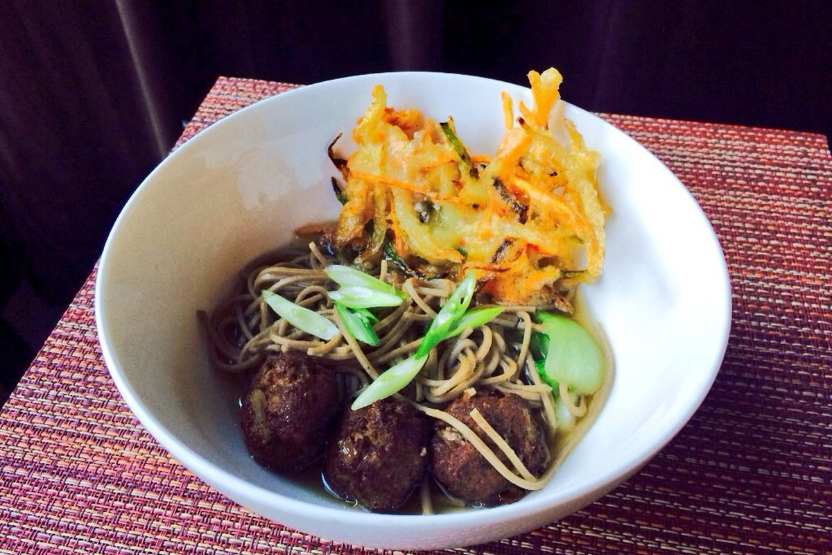 Silk Road Noodle Pop-Up Lunch Guest Chef Jonah Kim's soba dish