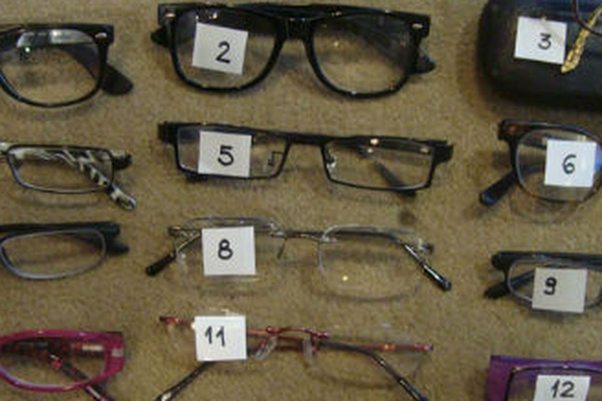 """The first batch of lost glasses. Photo via <a href=""""http://www.coachella.com/lostfound/glasses"""">Coachella Lost &amp; Found</a>"""