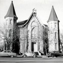 The Provo Tabernacle in 1958.