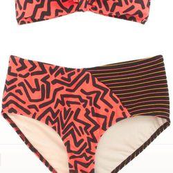 """<a href=""""http://www.barneys.com/Giejo-Aztec-Bikini-Bottom/501948706,default,pd.html?q=giejo&index=4"""">Aztec Bikini</a>, top $112, bottom $98"""