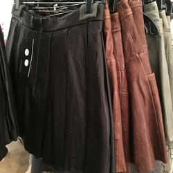 Leather skirts, $145