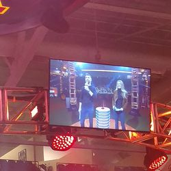 Hosts Marty Smith and Allie LaForce.
