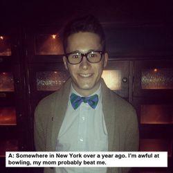 "Wylie Fresnie, <i>Annex</i> magazine marketing manager and menswear blogger at <a href=""http://www.instagram.com/bornandraised"">@bornandraised</a>"