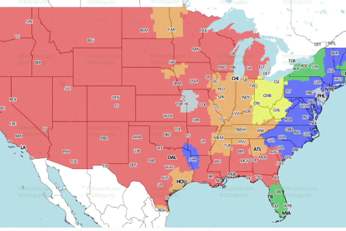 Hoyer Minnesota Map.Nfl Week 7 National Tv Maps Bengals Vs Browns Only Available
