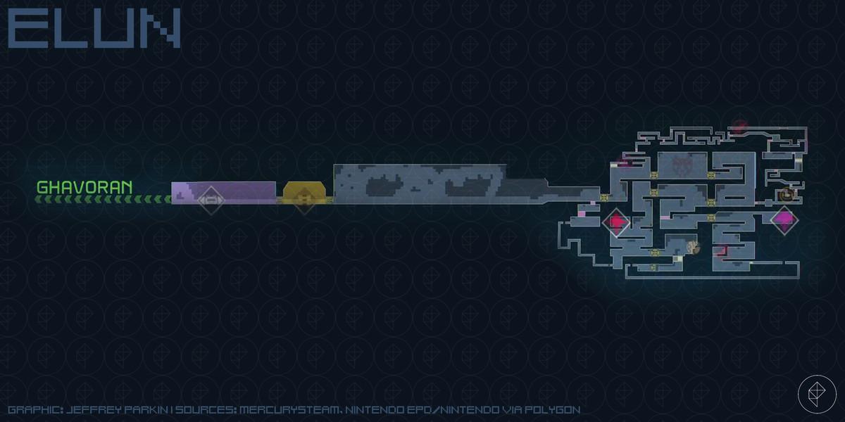 Metroid Dread Elun map
