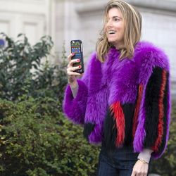 Multicolored fur popularized on the fall 2015 runways.