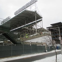 Tue 12/29: new wooden forms, left-field gate -