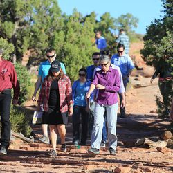 Interior Secretary Sally Jewell visits Canyon Country in southern Utah on Thursday, July 14, 2016. During her trip to the region, she said she was shocked by the lack of protection for Native American cultural sites. Today, President Barack Obama declared the Bears Ears National Monument in southeast Utah.
