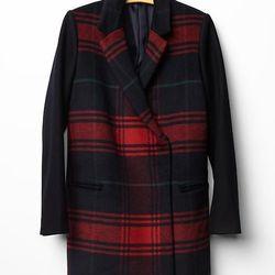 """Gap plaid car coat, <a href=""""http://www.gap.com/browse/product.do?cid=5739&vid=1&pid=140162002"""">$168</a>"""
