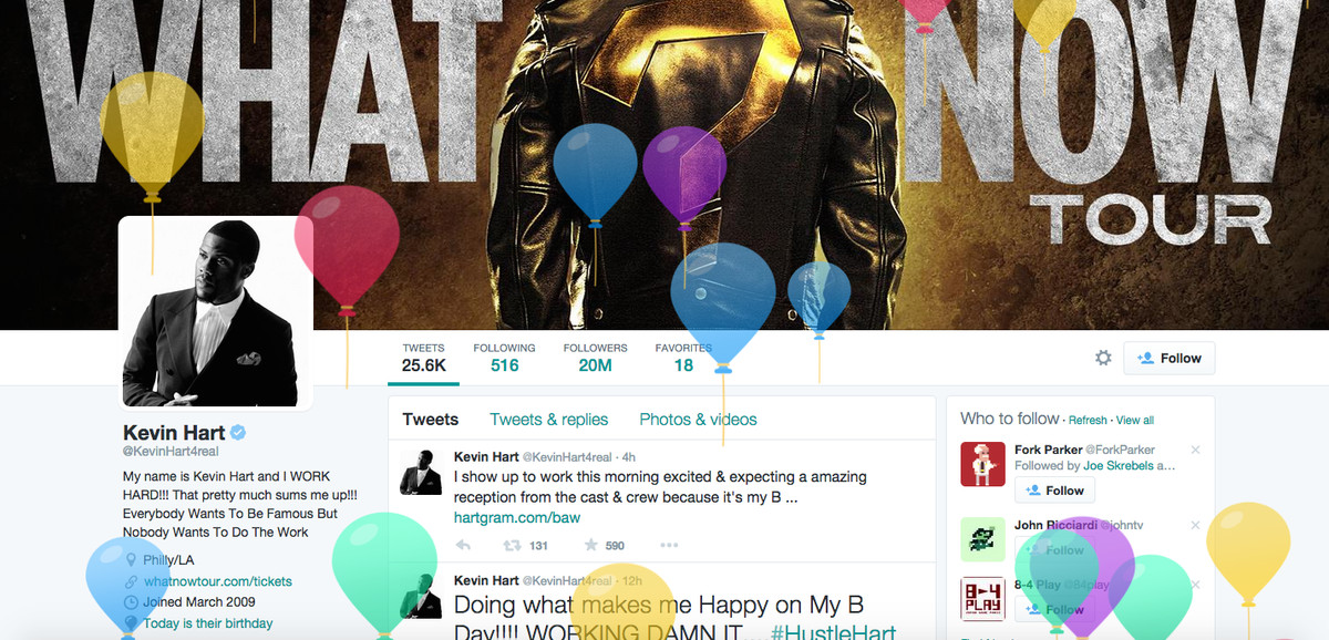 Twitter wants to know your birthday so it can shower you