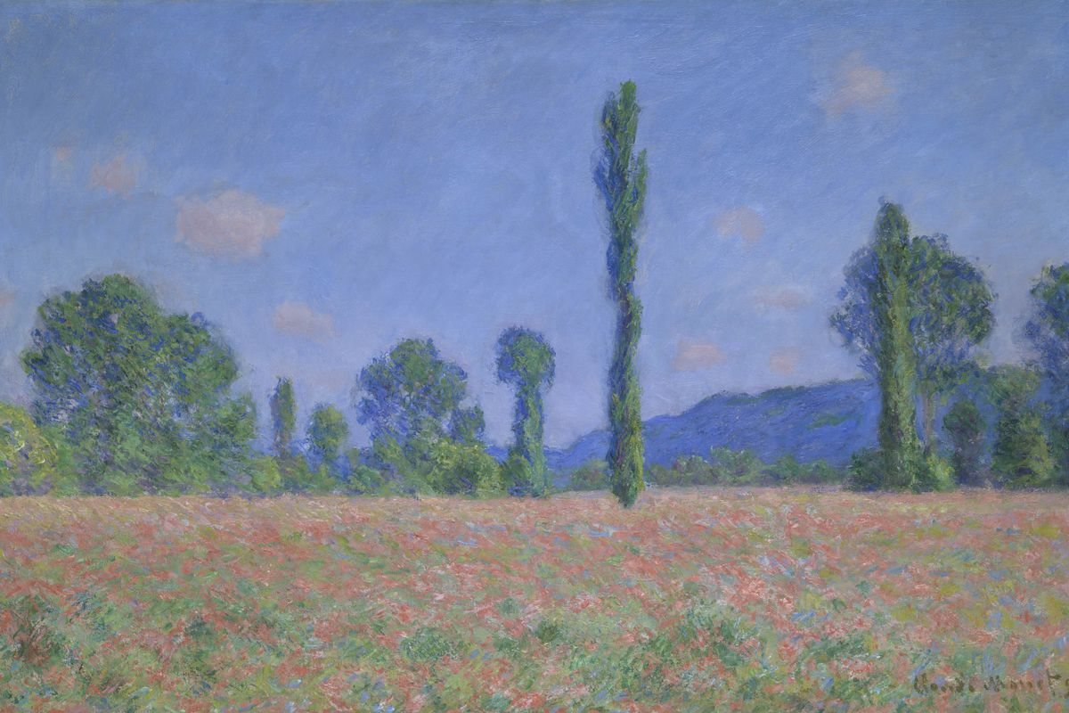 Claude Monet.Poppy Field (Giverny), 1890/91. The Art Institute of Chicago, Mr. and Mrs. W. W. Kimball Collection.