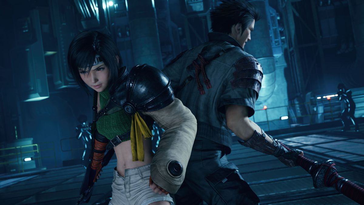 Yuffie stands back-to-back with Sonon in FInal Fantasy 7 Remake Intergrade