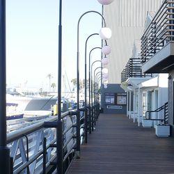 Planet Blue's shop even features marina views.