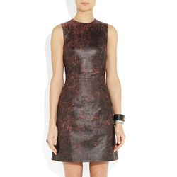"""<b>Christopher Kane</b> Cracked Leather Dress, <a href=""""http://www.net-a-porter.com/product/334859#"""">$3,435</a> at Net-A-Porter"""