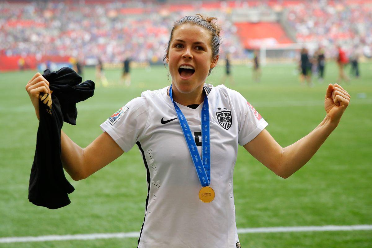 Sky Blue's Kelley O'Hara post Women's World Cup win.