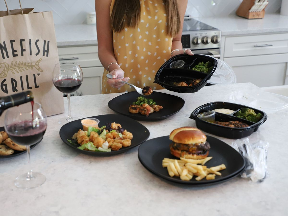 Takeout and delivery options on the new menus at Bonefish Grill.