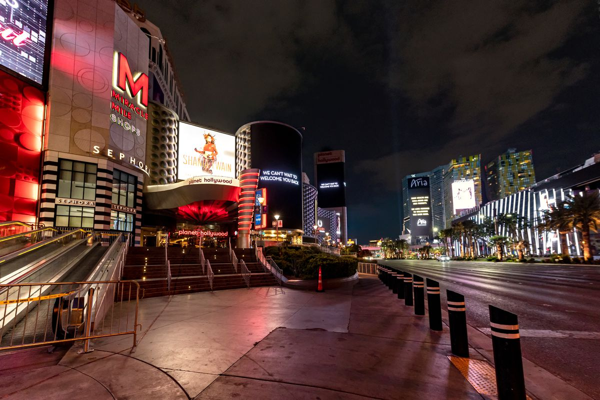 The Las Vegas Strip at the Miracle Mile Shops
