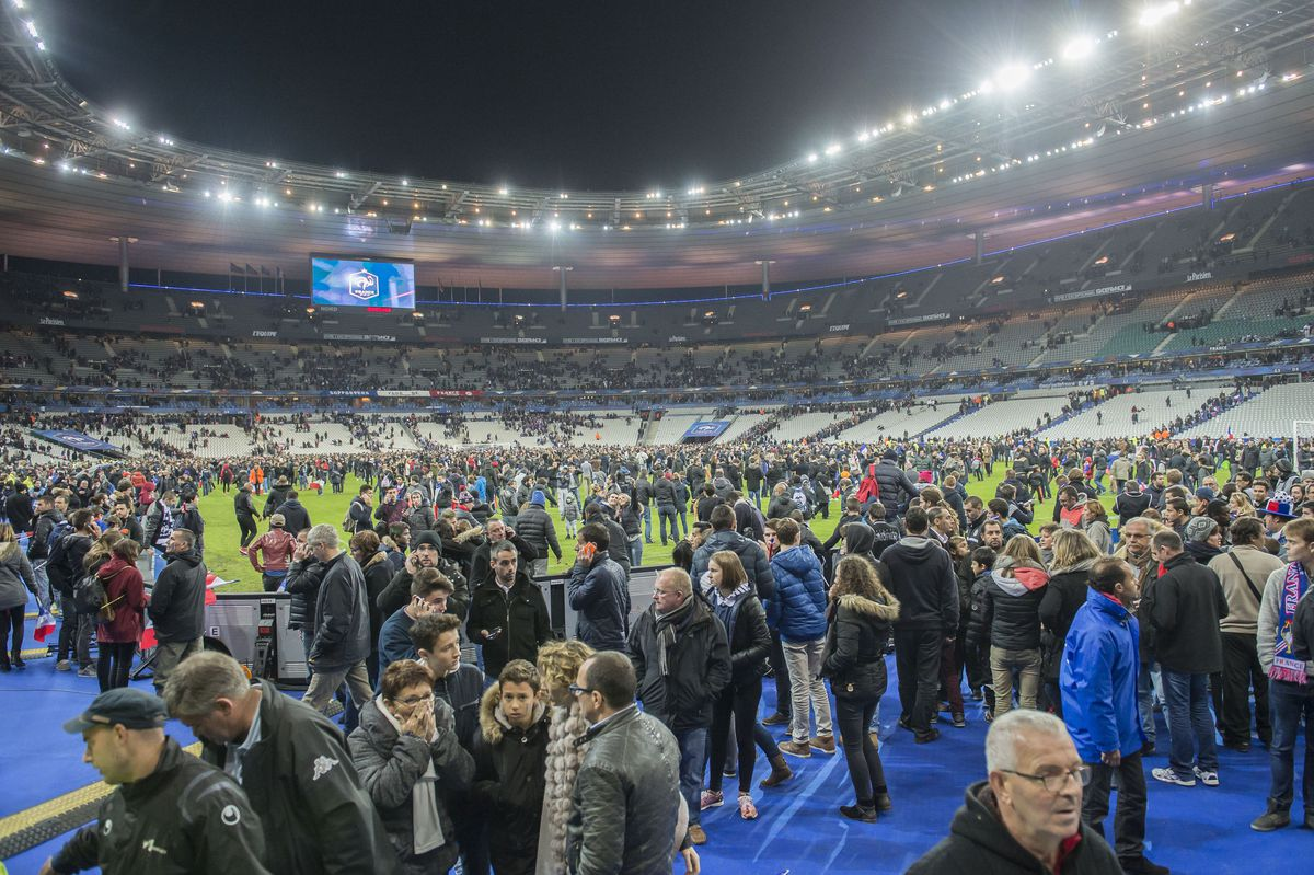 France's national soccer stadium in the aftermath of the November 13, 2015, terrorist attacks.