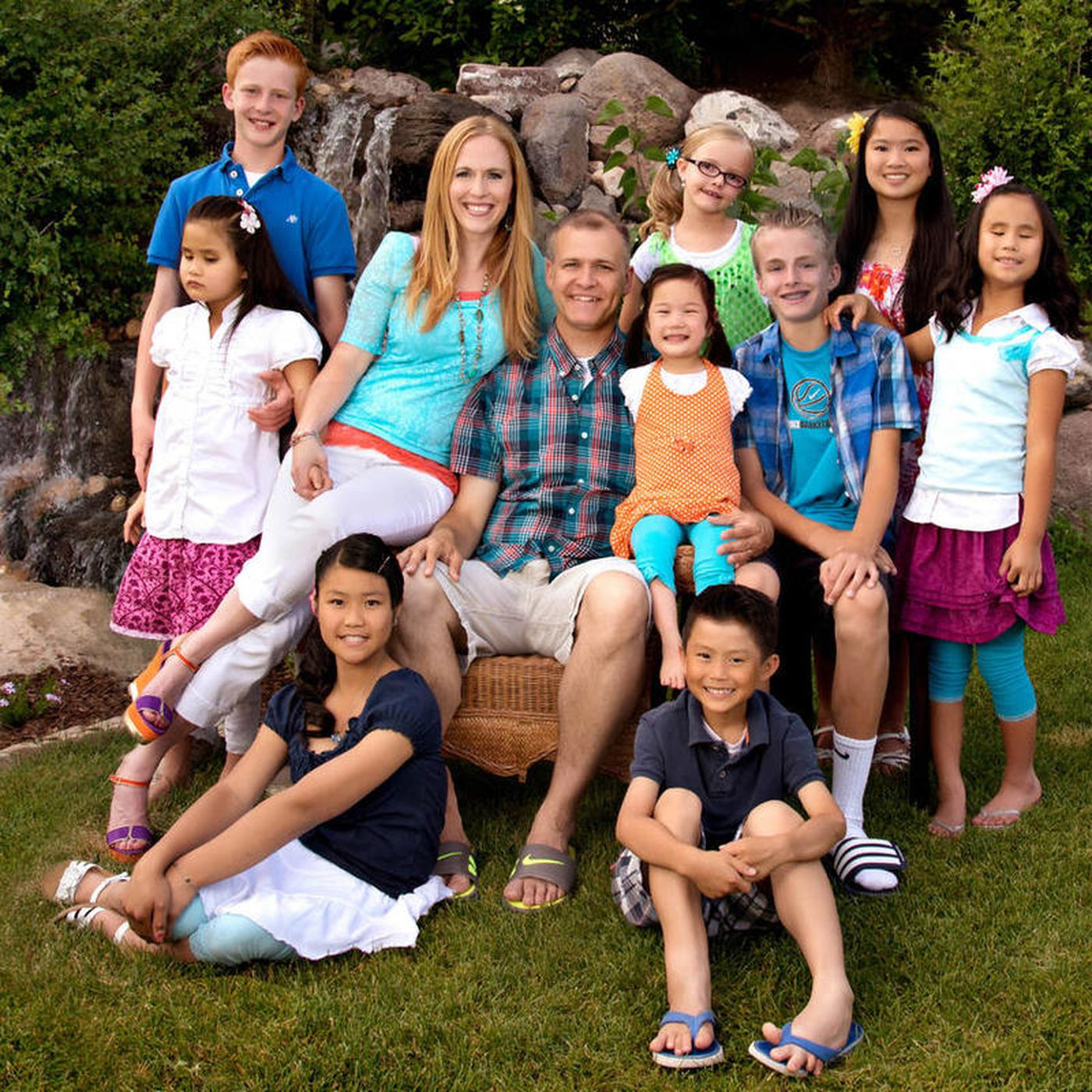 Herriman family with 10 kids, 7 adopted with special needs