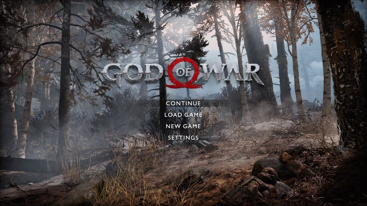 God of War's main menu