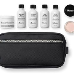 """For the well-groomed gentleman: Baxter of California x DSPTCH Dopp Kit, <a href=""""http://www.baxterofcalifornia.com/products/gifts-for-dad/C-DSPTCH+KIT.html?cgid=gifts-and-sets#start=19&cgid=gifts-and-sets"""">$95</a>. (Psst: Purchase the kit at the Baxter Fi"""