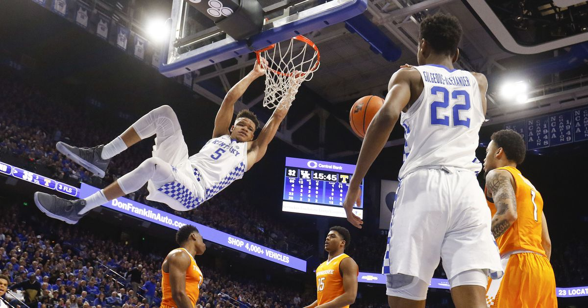 Kentucky Basketball Announces Tv Schedule Game Times And: Kentucky Wildcats Basketball Vs Tennessee Vols: Game Time