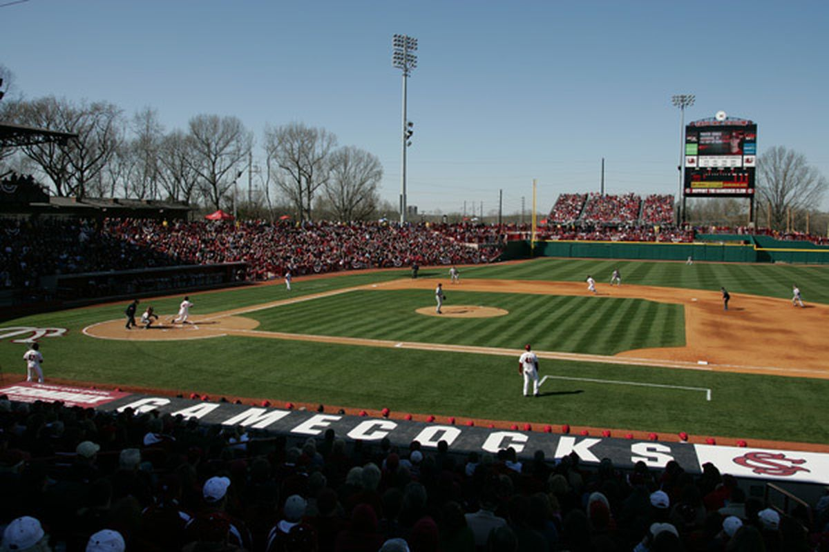 Carolina Stadium, home of the 2011 NCAA baseball tournament's Columbia Regional-hosting South Carolina Gamecocks. Photo by flickr user jblake2, http://en.wikipedia.org/wiki/File:Carolina_Stadium2.jpg