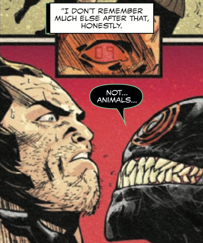Wolverine and a symbiote (not THAT symbiote) in Web of Venom: Ve'Nam, Marvel Comics (2018).