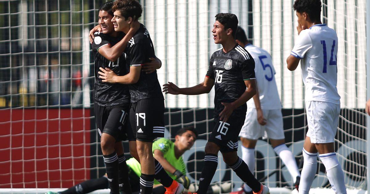 72b025341 Mexico crush El Salvador to qualify for the U17 World Cup. Mexico (National  Football) logo