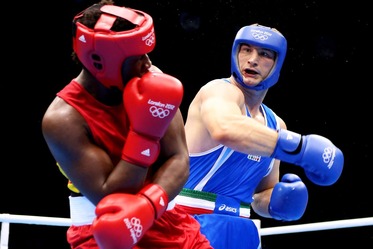 Roberto Cammarelle of Italy will have to beat Great Britain's Anthony Joshua if he is to pick up a second Olympic gold medal. (Photo by Scott Heavey/Getty Images)