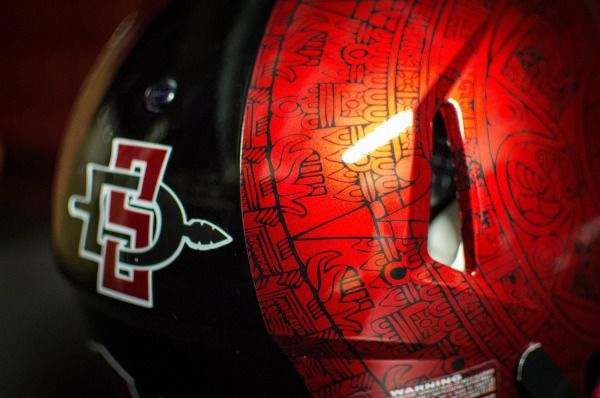 low priced 805de 101b6 San Diego State's new Aztec helmets are extremely badass ...