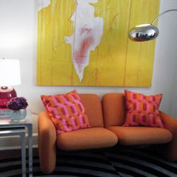 Nicole Miller's mod couch