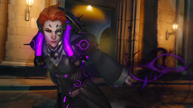 Overwatch - Moira performs her Fade ability