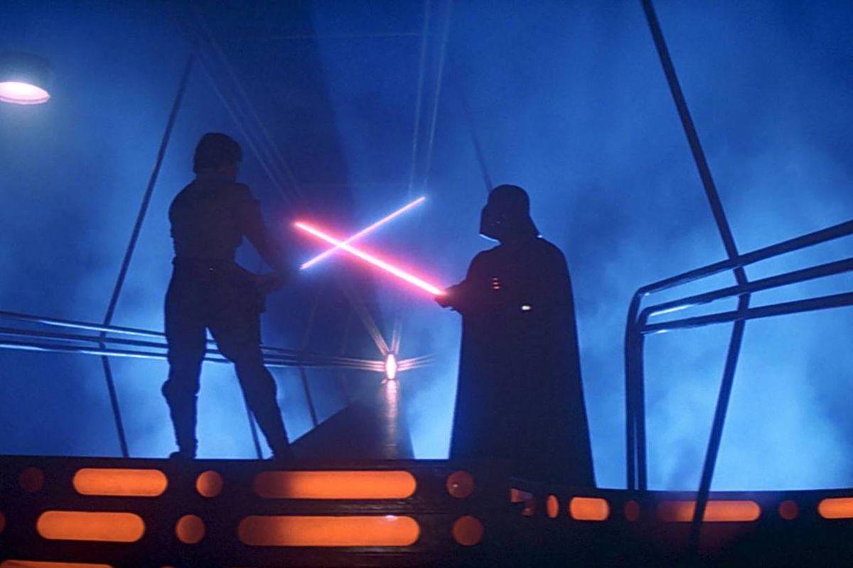 star wars empire strikes back lightsaber fight