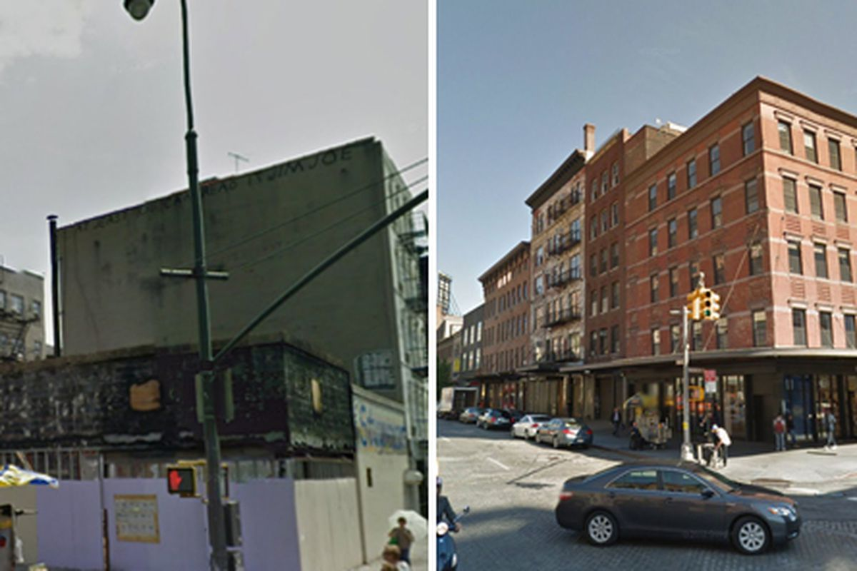 Left, 14th Street at Avenue A; Right, 14th Street at Ninth Avenue