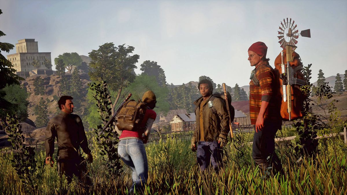 State of Decay 2 - survivors stand in a field