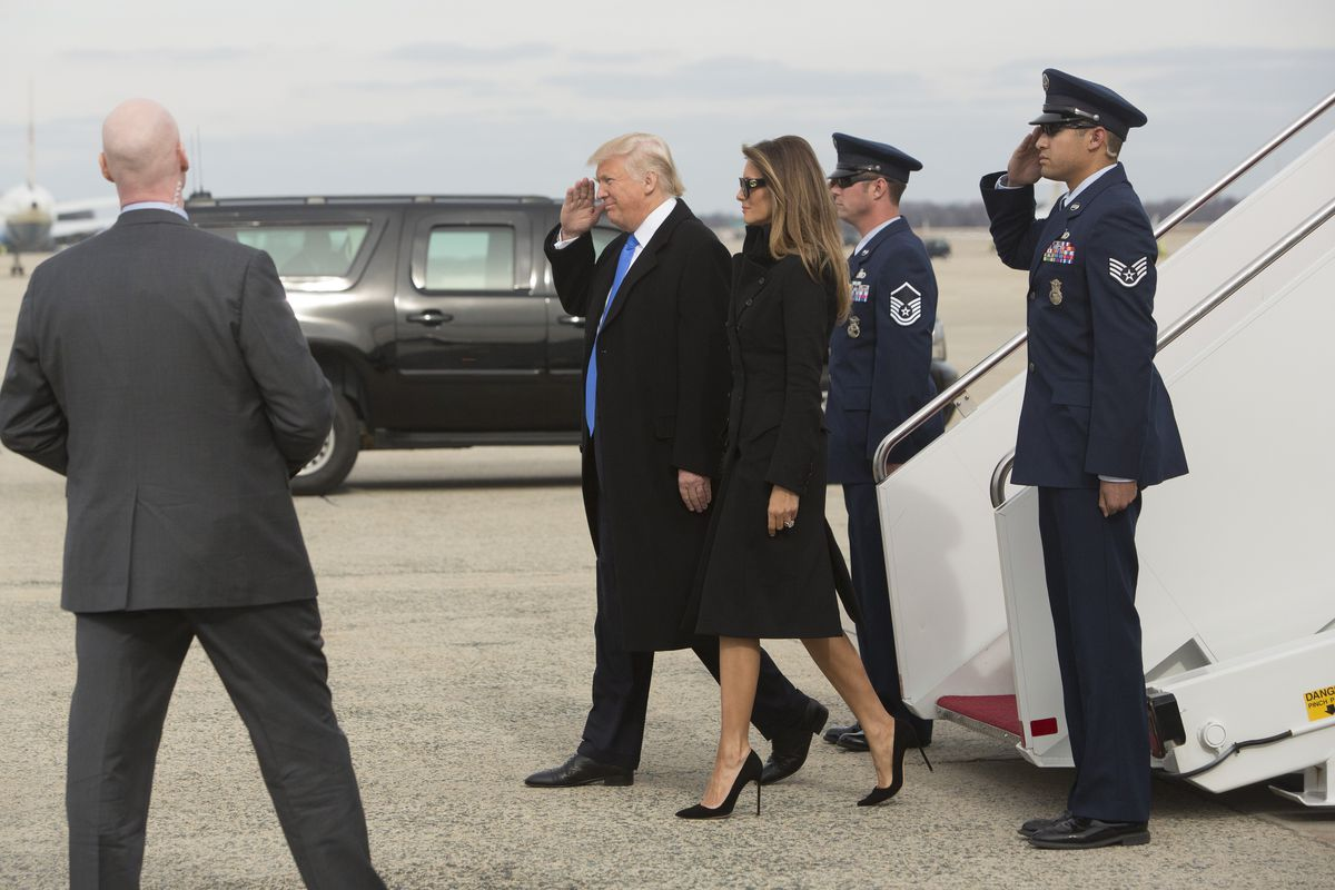 Trump Travels To DC For Inauguration