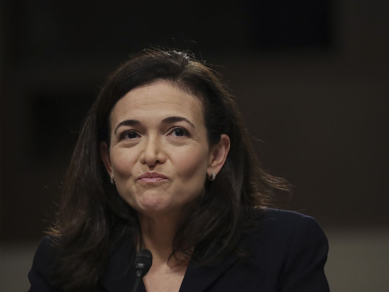 Facebook COO Sheryl Sandberg testifies on Capitol Hill in September 2018.