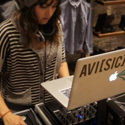 DJ Avi Sic at Allsaints