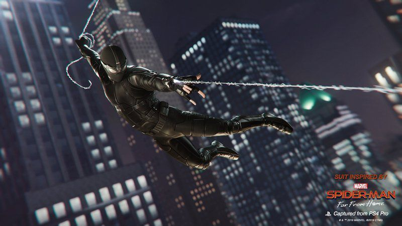 spider-man ps4 far from home stealth suit