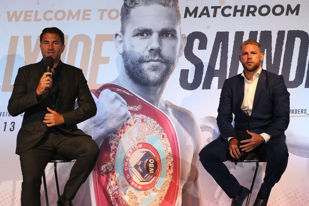 <label><a href='https://mvpboxing.com/news/27759/Hearn-appalled-by-Saunders'-latest-antics' class='headline_anchor'>Hearn appalled by Saunders' latest antics</a></label><br />Saunders has once again demonstrated extremely poor judgement.  Matchroom promoter...