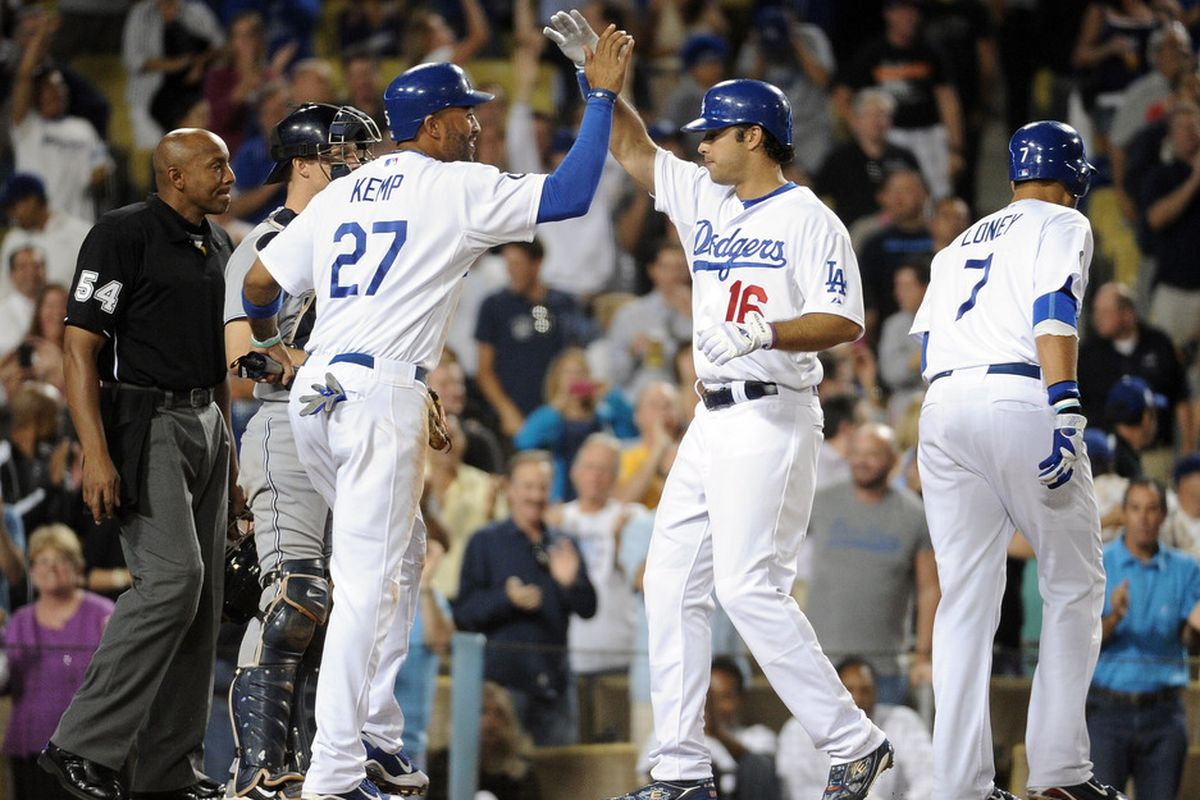 Andre Ethier played well and had some good at-bats on Tuesday night.