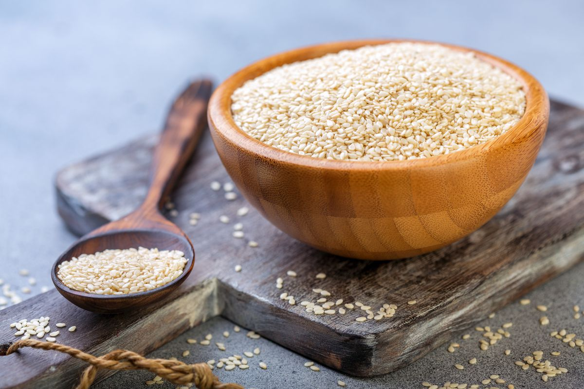 Sesame seeds supply good amounts of copper, a mineral needed for proper energy production and neurotransmitter synthesis.