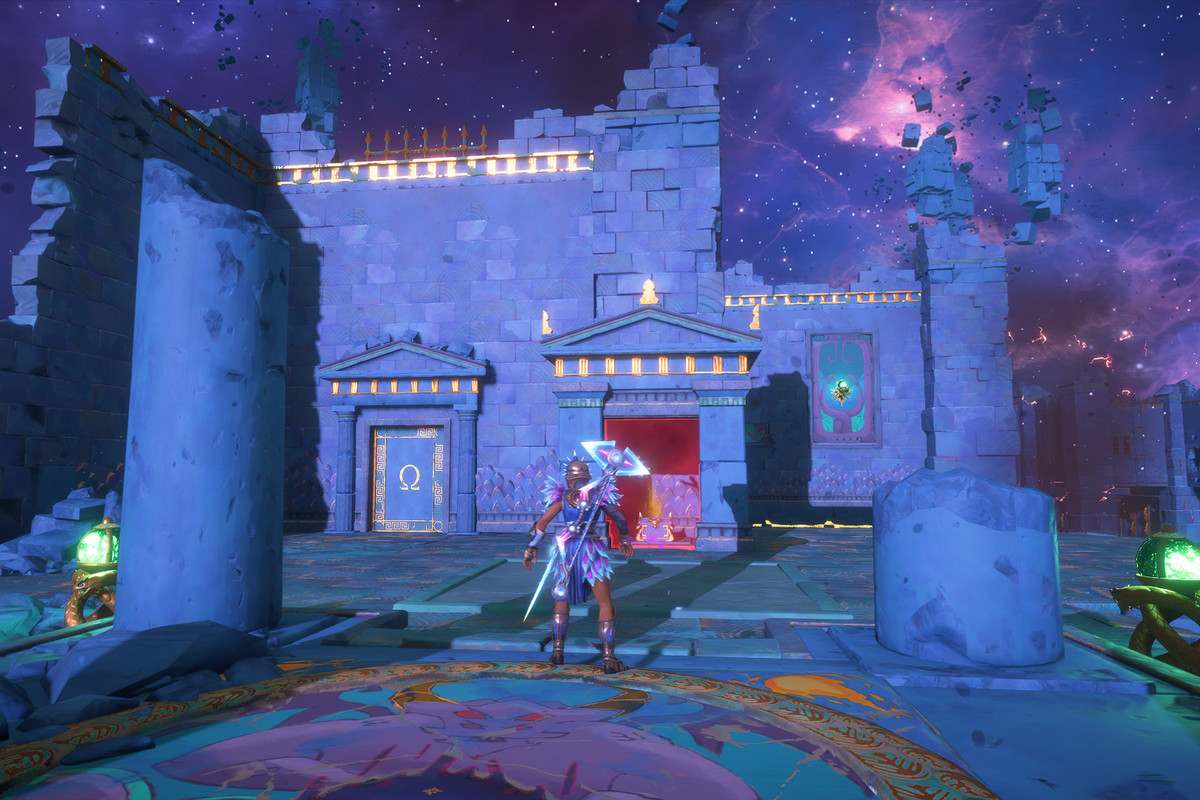 The entrance to The Path of the Olympians Vault of Tartaros in Immortals Fenyx Rising