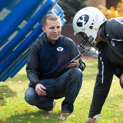 BYU student Jake Merrell, who is pursuing a master's degree in mechanical engineering, demonstrates a smart foam he created called xonano (exo-nano) that can detect force. He is testing the foam in the padding of a football helmet with hopes that it can aid football teams in preventing the long-term effects of concussions.