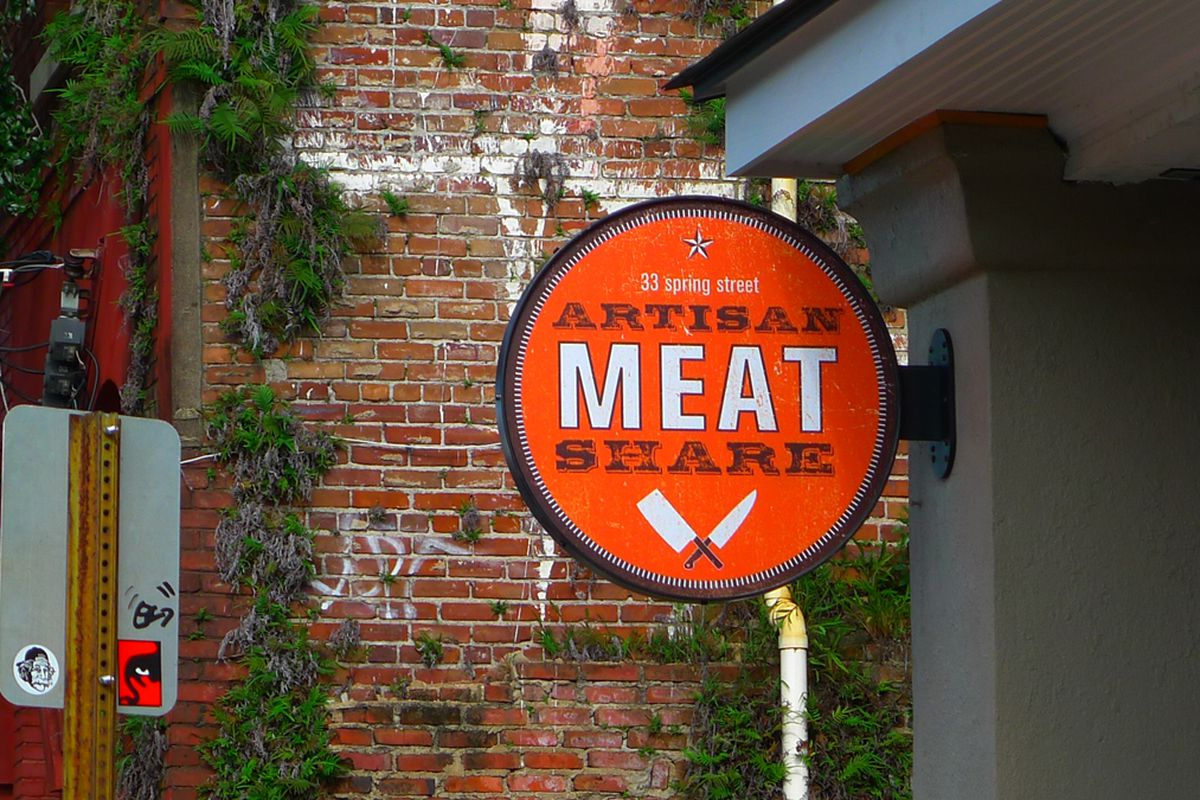 Artisan Meat Share Sign