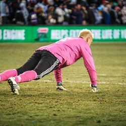 When it is so cold you do push-ups with a cracked rib to stay warm.