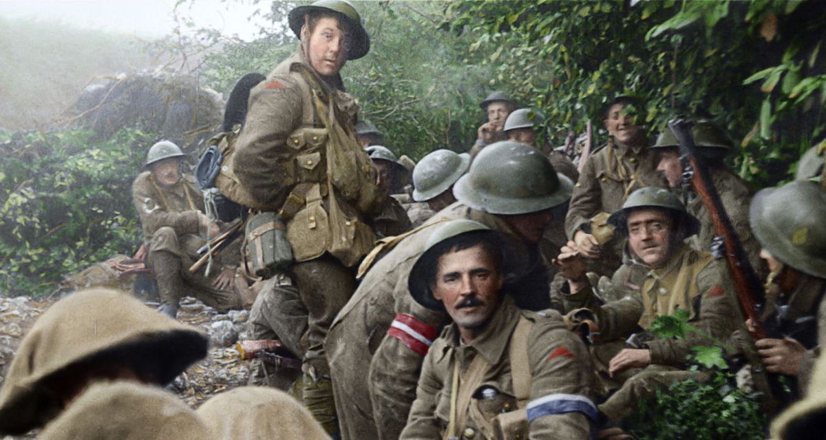 They Shall Not Grow Old - soldiers resting
