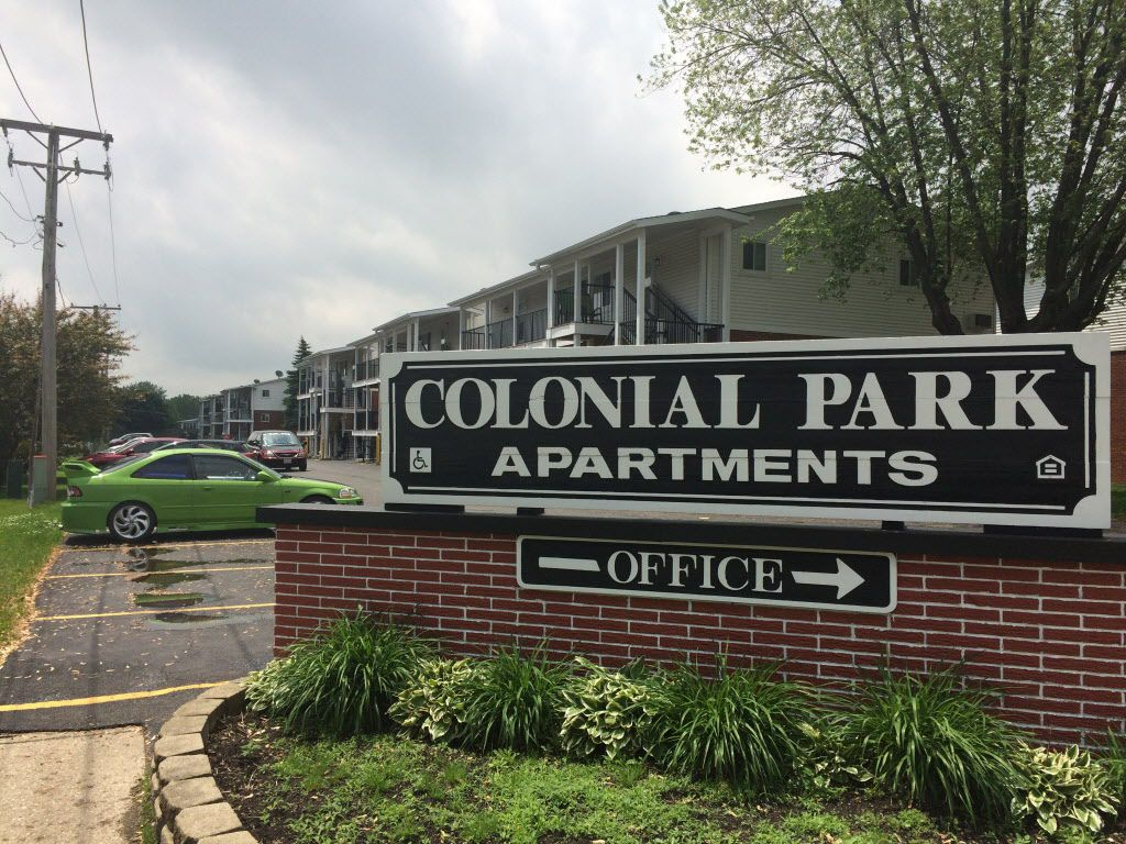 The Colonial Park Apartments in Park City, near Waukegan, have become a destination for low-income people who once lived in Chicago. More than 84,000 people are now living in the suburbs using vouchers or other forms of public-housing assistance.   Chris