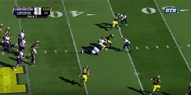 FF - Northwestern - Smith - 18-Yard Run